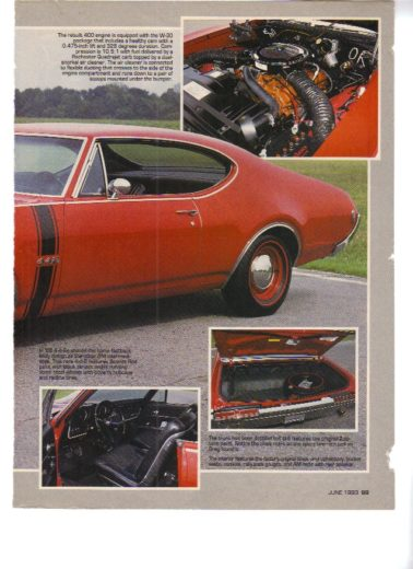 1968 Oldsmobile 442 Stencil Kit