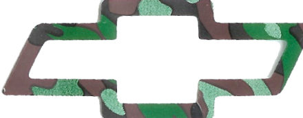 Chevy Camo Emblem Bow Tie Decals (Blue, White, Red, Black or NEW Camouflage)