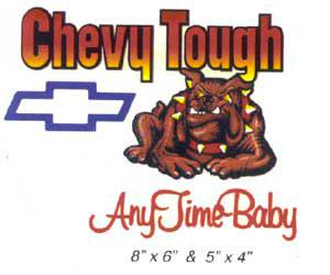 Chevy Tough Any Time Baby Decal