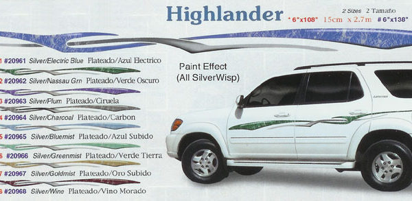 "Highlander 6"" x 108"" 6"" x 138"" Custom Vinyl Graphics"