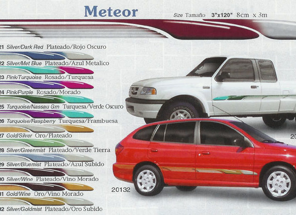 "Meteor 3"" x 120"" Custom Vinyl Graphics"