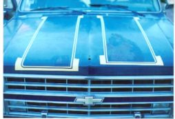 Chevrolet Truck 1973 through 1991 dual hood stripe paint stencil kit