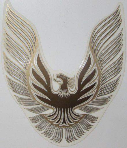 1981 Trans Am assorted medium sail panel bird decal in various colors.
